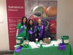 sainsbury collection purple day, DP, GK