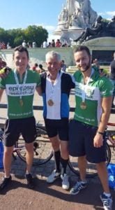 Ride London Chris Challis, Bobbo Davis, James Evans