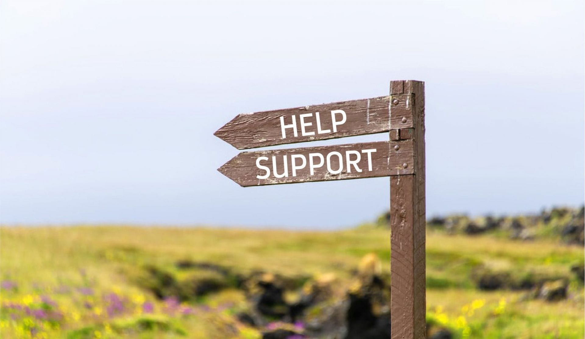 Help and support sign